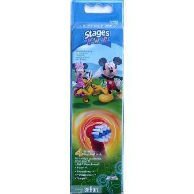 Oral-B EB10-4 Disney Mickey/Minnie 4 Pack Toothbrush Heads