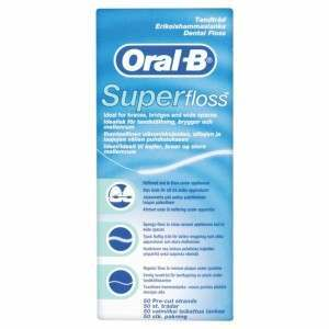 Oral-B 13265232 Super Floss (Ideal for braces, bridges and wide spaces) Dental Floss