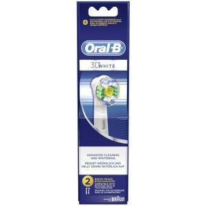 Oral-B EB18-2 3D White 2 Pack Replacement Toothbrush Heads