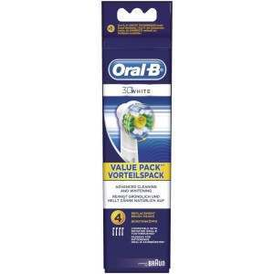 Oral-B EB18-4 3D White 4 Pack Replacement Toothbrush Heads