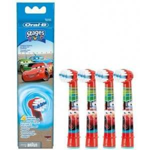 Oral-B EB10-4 Cars 4 Pack Toothbrush Heads