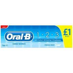 Oral-B 81671984 1.2.3 75ml Toothpaste