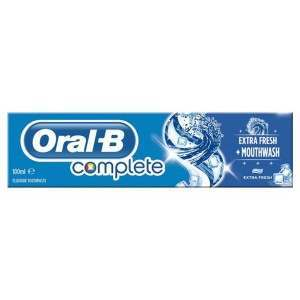 Oral-B 81482198 Complete Extra Fresh + Mouthwash Toothpaste
