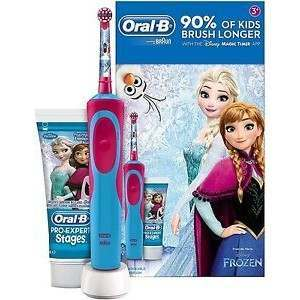 Oral-B 81611615 Stages Vitality Frozen Pro-Expert Stages Toothpaste & Rechargeable Electric Toothbrush