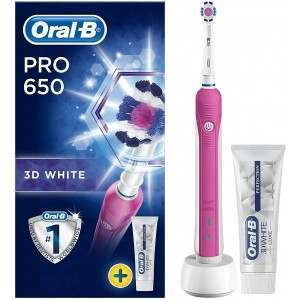 Oral-B 80299438 Pro 650 3D White Pink Electric Toothbrush