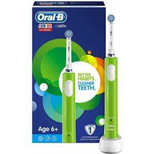 Oral-B D16.513 Junior 6+ Green Electric Toothbrush