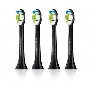Philips HX6064/33 DiamondClean 4-Pack Standard Black Toothbrush Heads